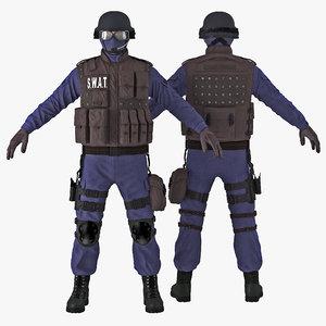 c4d swat policeman