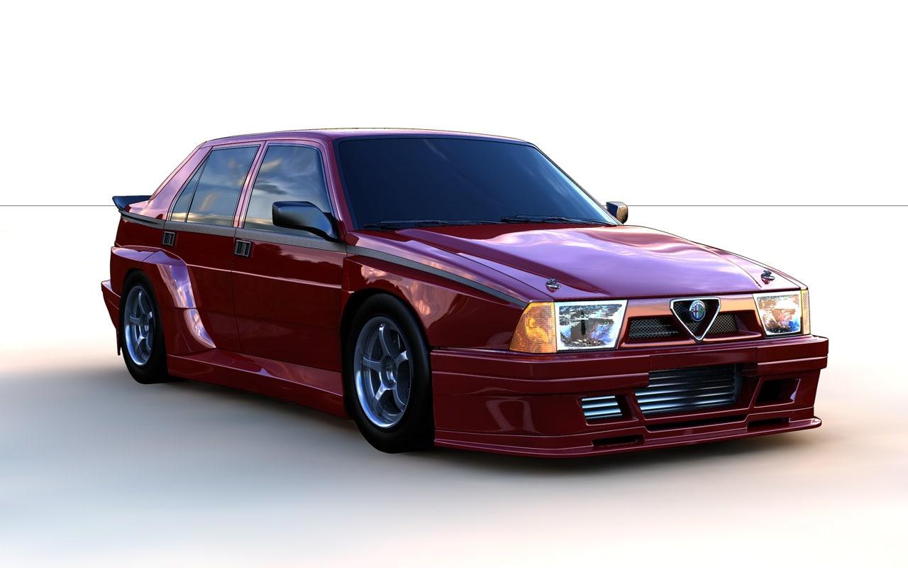 Alfa Romeo 75 Imsa Modelo 3d Turbosquid 910391