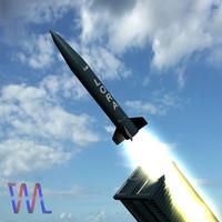 missile lora 3d model