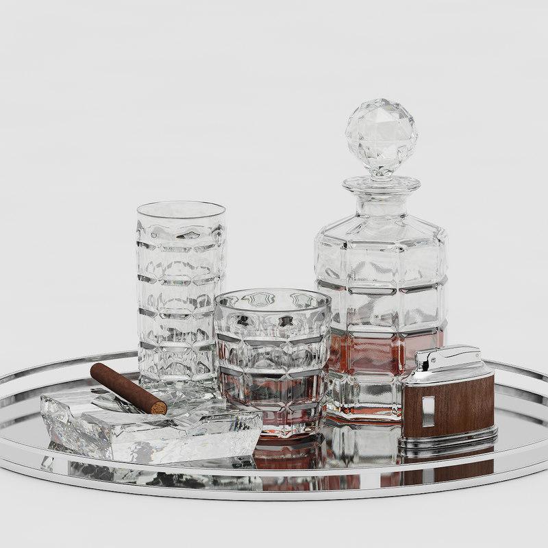 3d whiskey carafe cigar model