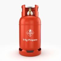 3d propane tank