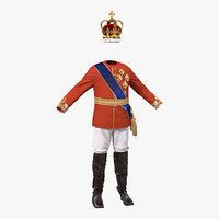 Royal King Costume 3 3D Model