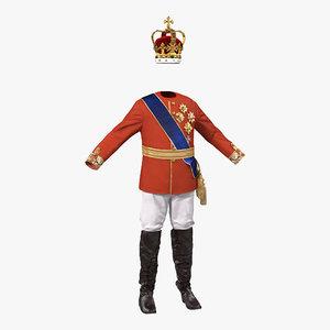 royal king costume 3 3d max