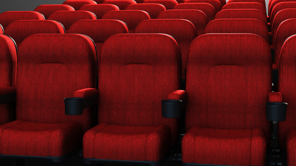 movie theater chair 3d model