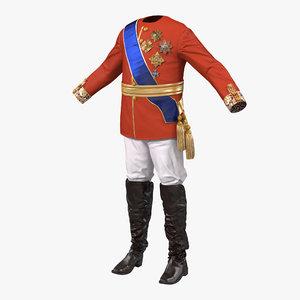 royal king costume 4 3d model