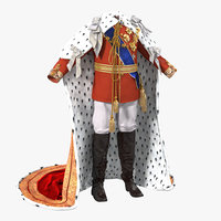royal king costume 2 3d model