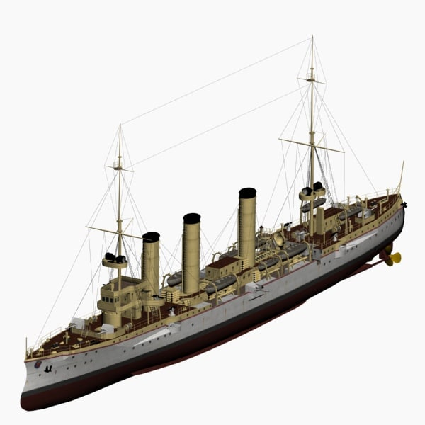 koenigsberg class cruiser imperial 3d model