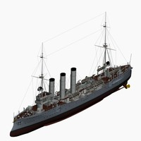 3d model cruiser imperial german navy