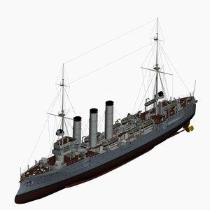 3d model cruiser imperial german navy