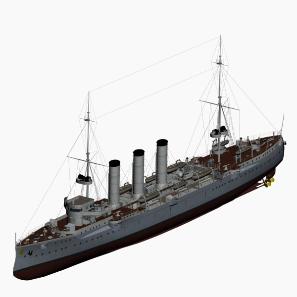 sms dresden cruiser imperial 3d max