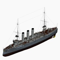 sms dresden cruiser imperial 3d max