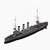 koenigsberg cruiser imperial german 3d model