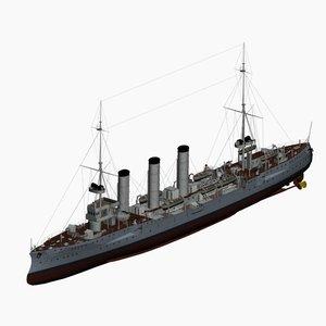 koenigsberg cruiser imperial german 3d model