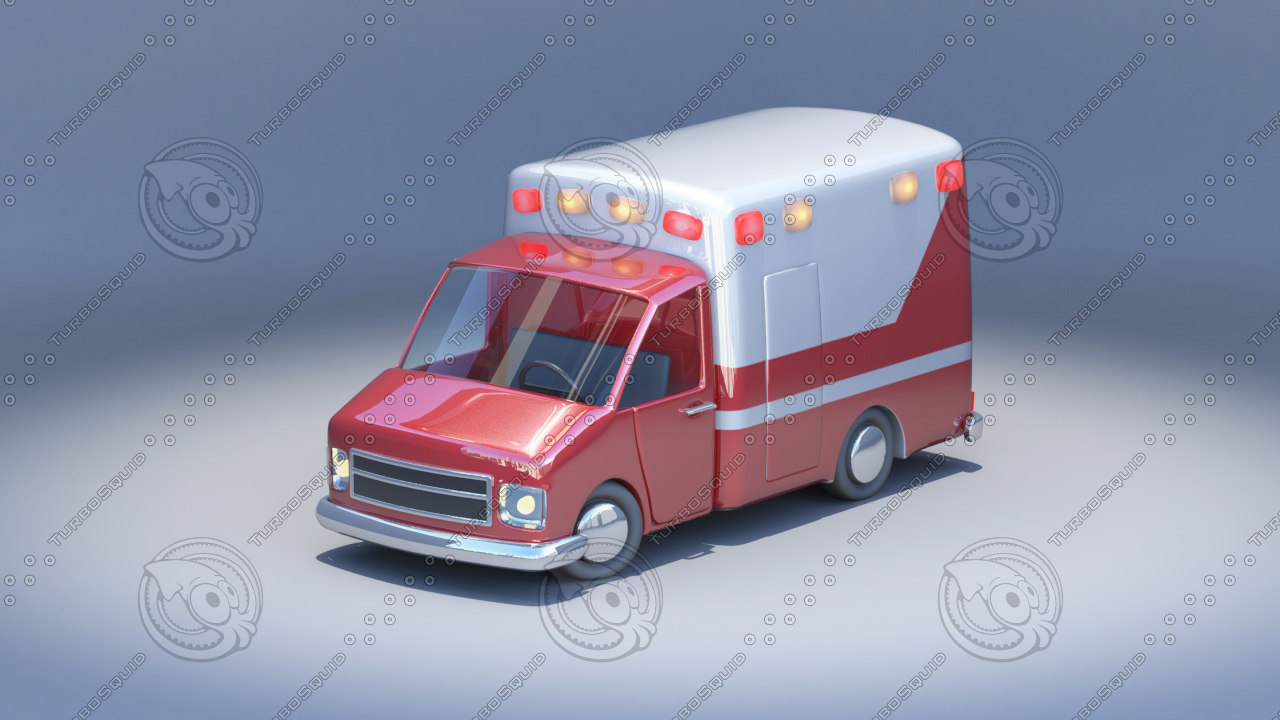 cartoon toy car 3d 3ds