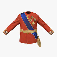 3d model royal king costume 5