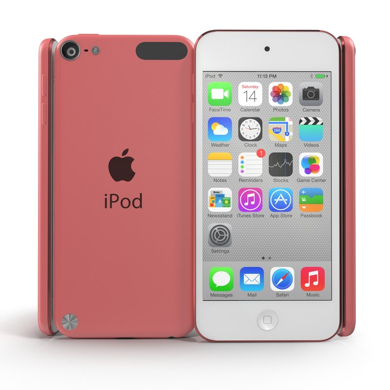 ipod touch pink modeled 3ds