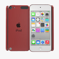 3d 3ds ipod touch red modeled