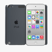 ipod touch space gray 3d model