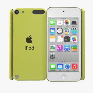 ipod touch yellow modeled 3d model
