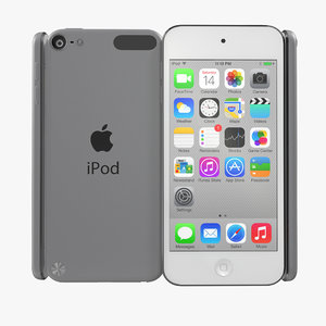 ipod touch silver modeled 3d 3ds