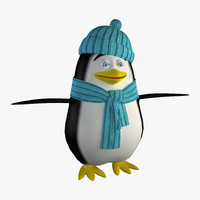 cartoon pinguin 3d model