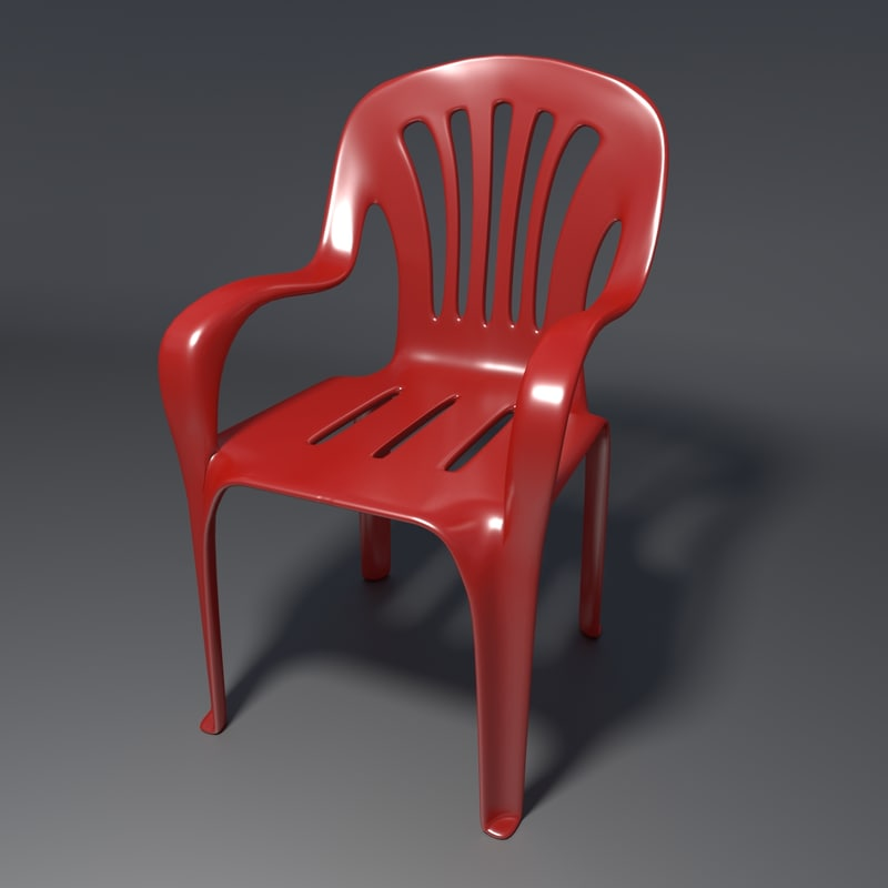 realistic chair 1 blend