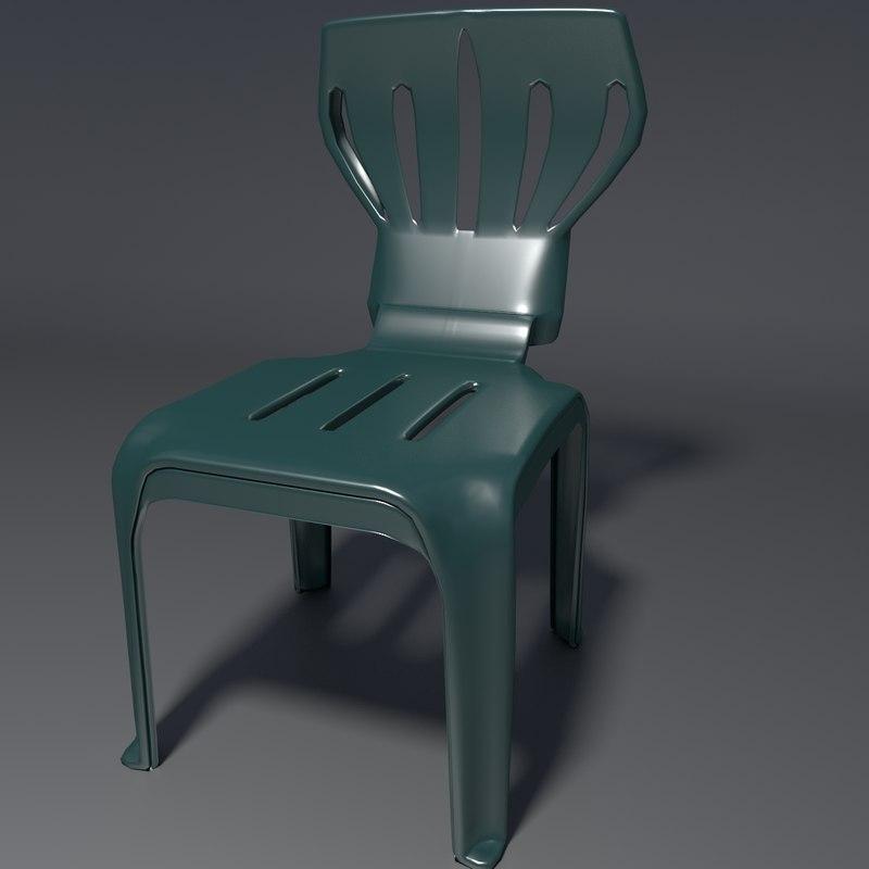 blend realistic chair 1