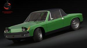 porsche 914-6 gt 1969 3d max