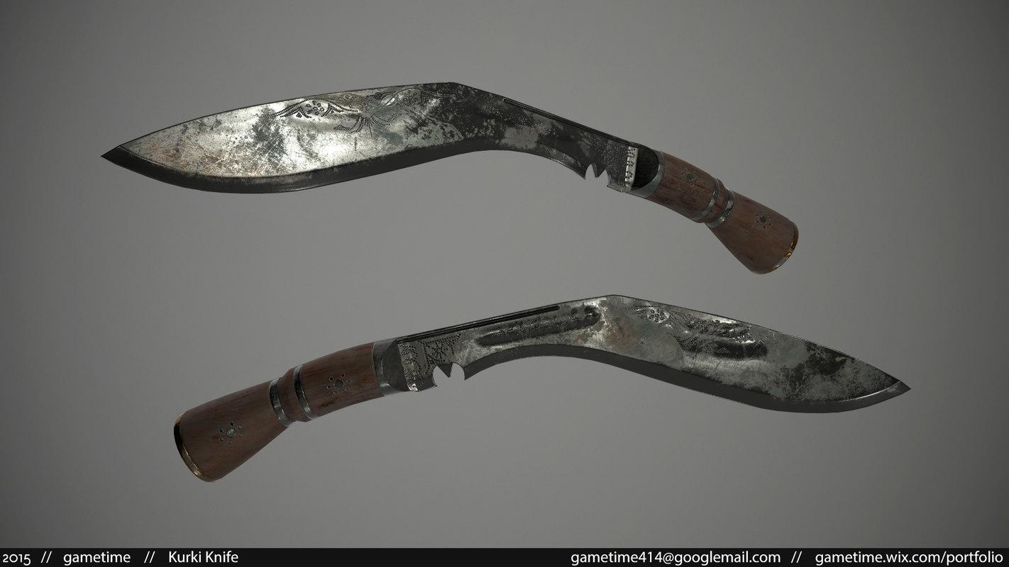 kurki knife 3d model