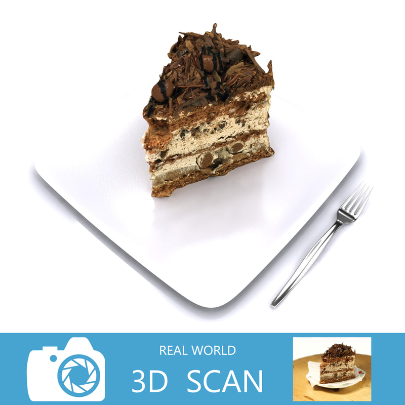 3d model scanned chocolate cake