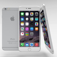 3d apple iphone 6 silver model