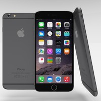 apple iphone 6 space 3d obj