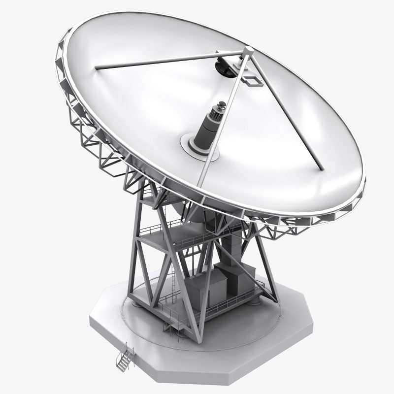 3d model big antenna dish