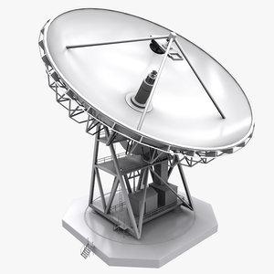 3d model big antenna dish