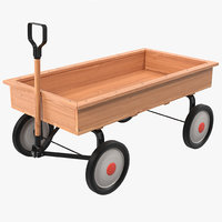 childs wagon modeled 3d obj