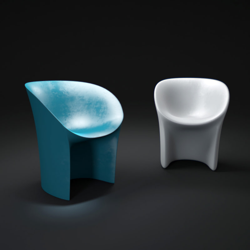 3d model moroso-cover-moon-chair