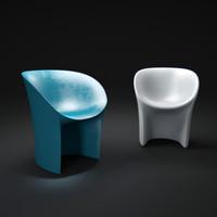 3d model moroso-cover-moon-chair