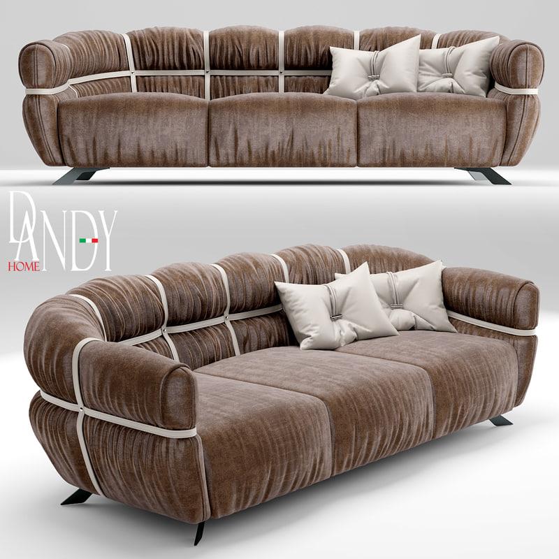sofa gamma dandy 3d model