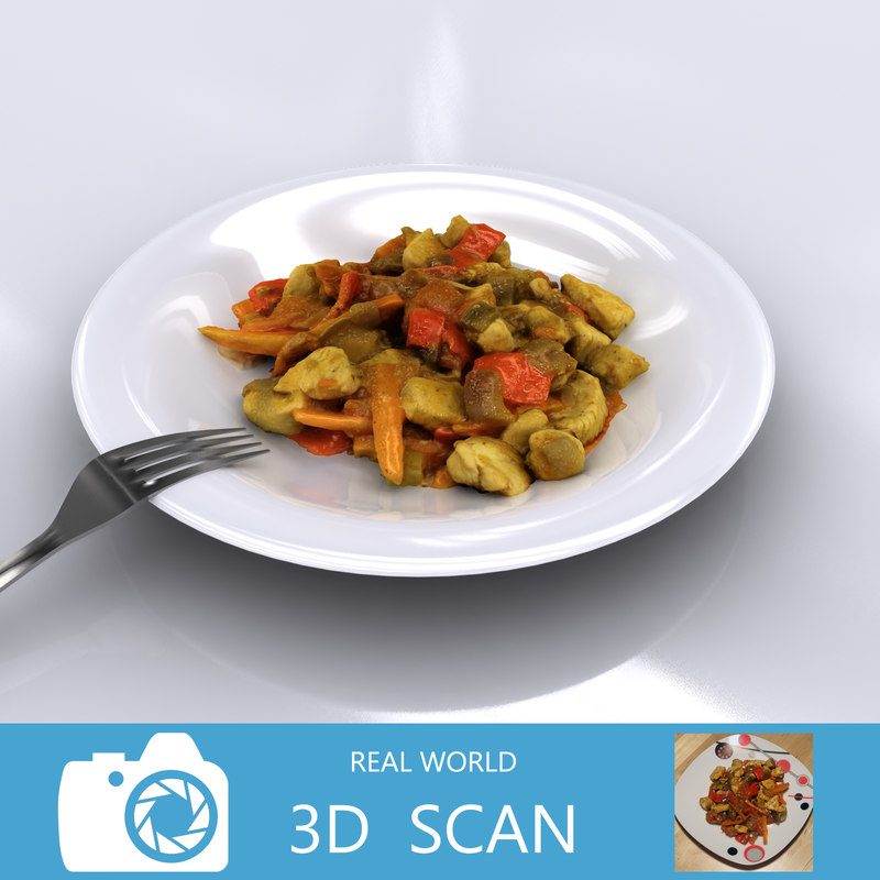3d meal chicken