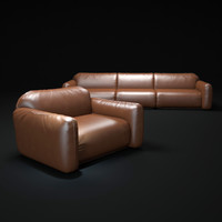 piumotto-busnelli-sofa 3d model