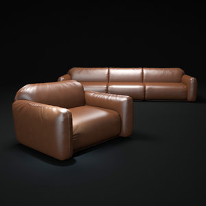 piumotto-busnelli-sofa 3d model