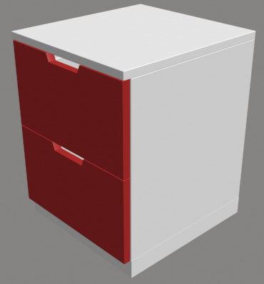 modern chest draws 3d model