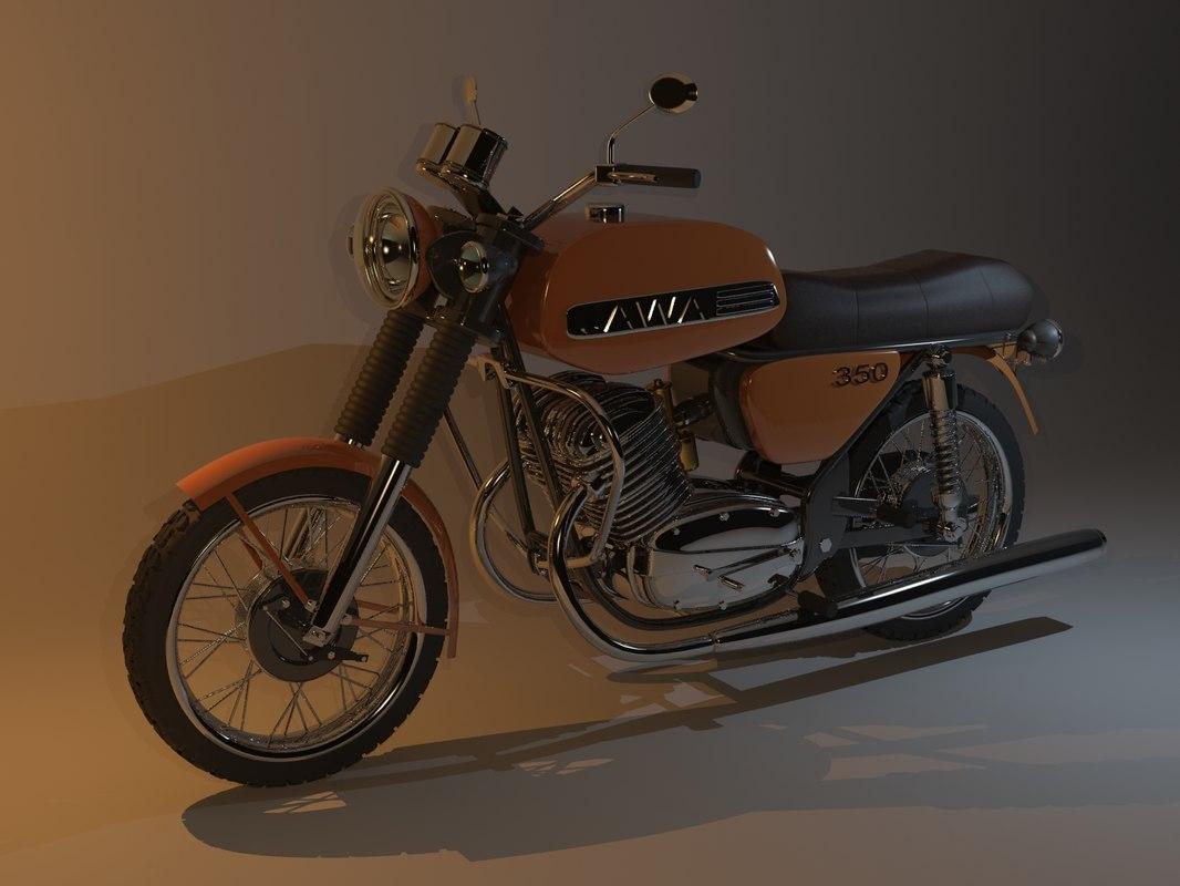 3d jawa 638 motorcycles model