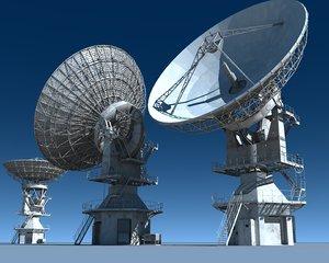 muos satellite dish 3d c4d