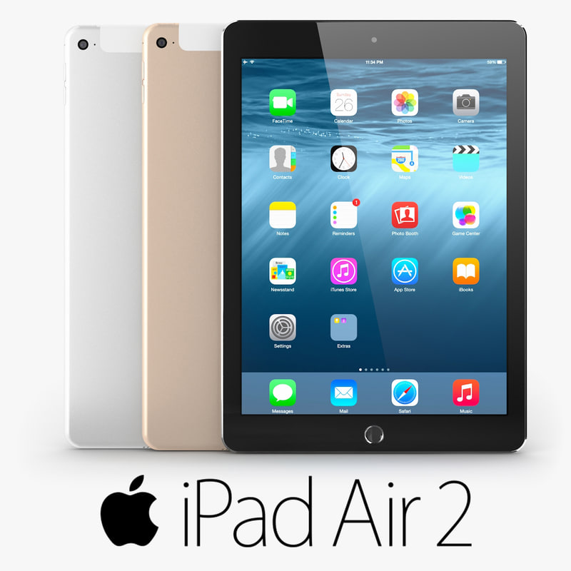 3dsmax apple ipad air 2