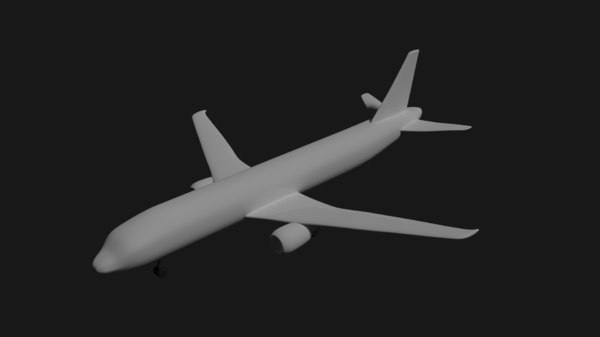 high-poly a320 airbus airplane 3d model