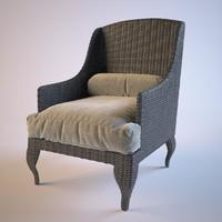3dsmax rotang armchair