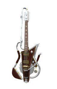 3d model electric guitar style