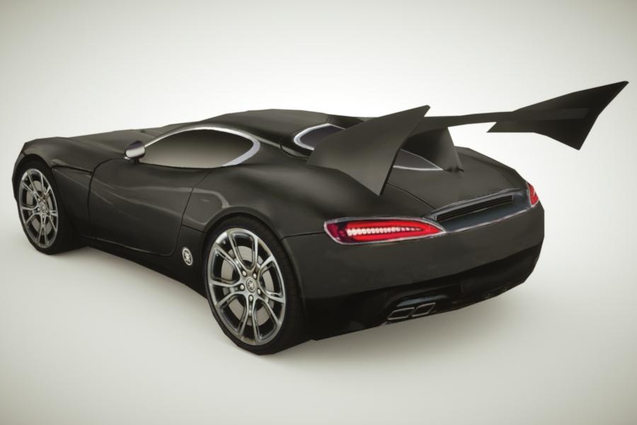 3d generic supercars colors car model