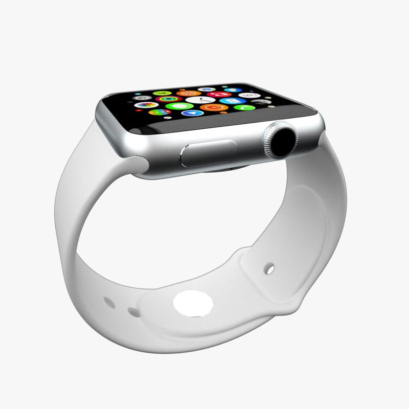 3d model watch apple